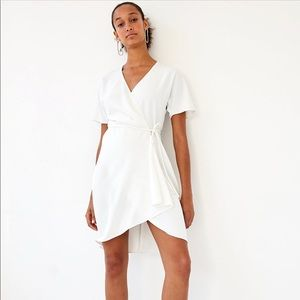 Aritzia White Wrap Dress - Brand New